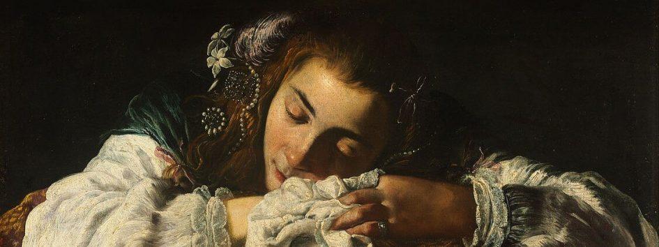 la fille qui dort peinture
